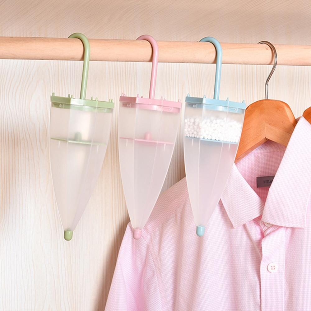 Umbrella Shape Hanging Moisture Absorber Household Reusable Space Interior Dehumidifier Bags Moisture Box For Wardrobe 1pcs