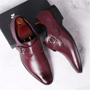 Image 5 - 45 46 47 48 erkekler İş elbise ayakkabı Retro Patent deri Oxford ayakkabı erkek şık zarif Metal toka düğün ayakkabı