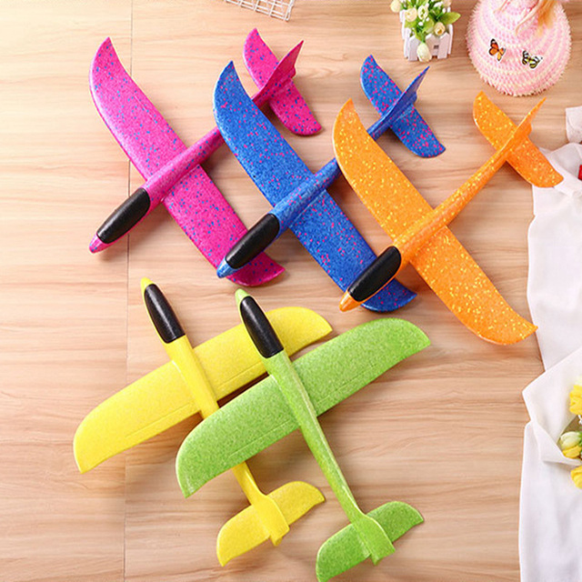 36-48CM Hand Throw  Flying Glider Planes Foam Plane Kid toys Model Glider airplane Kids Gift Toy Free Fly Plane Toys 2