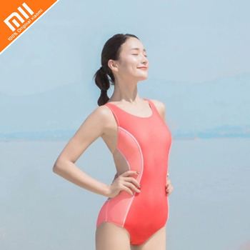 2019 Youpin Ladies Triangle One-piece Swimsuit Professional Female Swimsuit One-piece Skirt Swimsuit Women's Training Swimsuit фото