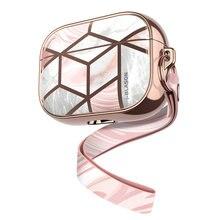 I blason Cosmo funda diseñada para Airpods Pro,360 grados funda protectora de mármol cubierta compatible con Apple AirPods Pro (2019)