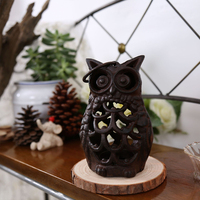 Candlestick Creative Retro Candlestick Home Decoration Accessories Cast Iron Owl Candlestick Home Coffee Soft Decoration