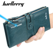 Baellerry Newest Fahion Women Wallet Leather Housekeeper Designer Womens Long Wallets and Purses  Leather Ladies Slim Purse