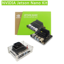 NVIDIA Jetson Nano Kit de desarrollador Cortex A57, 1,43 Ghz, 128 core, Maxwell GPU, carcasa de acrílico, ventilador, adaptador de corriente, tarjeta SD, HDMI