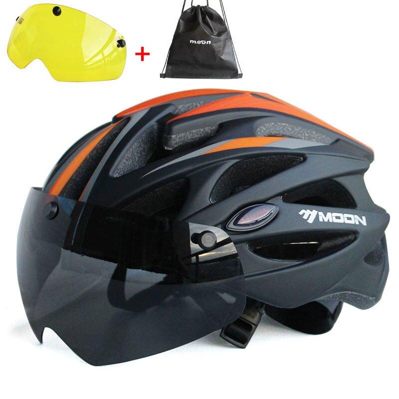 TT Road Bicycle Helmet Goggle Aero Ultra-light In-Mold Racing Cycling Bike Sport