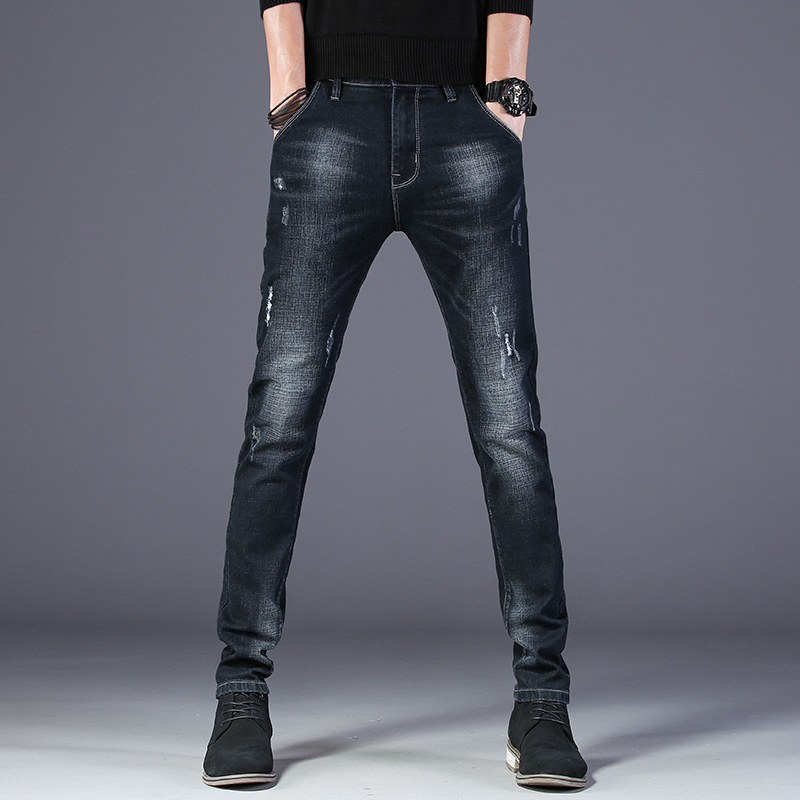 Jeans Male Streetwear Autumn Denim Jeans Pants  Jeans For Mens Slim Fit Classic Designer Trousers Casual Skinny Straight MOOWNUC