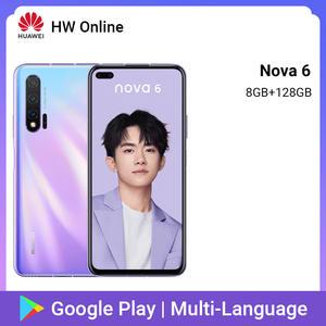 Huawei Nova 6 8GB 128GB GSM/LTE/CDMA/WCDMA Nfc Adaptive Fast Charge Wireless Charging