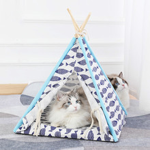 Cat Tent  Dog Beds for Medium Dogs Pet Hand Wash Breathable Print Removable Cover
