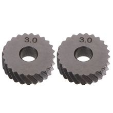 цена на 2pcs 3.0mm Diagonal Linear Knurl Wheels Knurling Knurler Tool 1.0/1.2/1.8/3.0mm Pitch