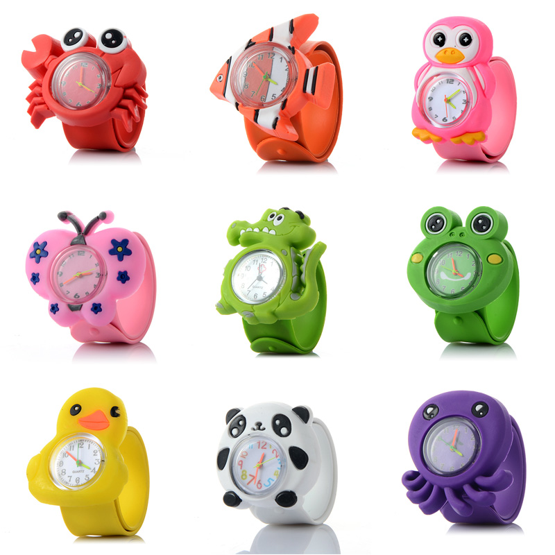 Lovely Children's Watches 3D Silicone Strap Quartz Wristwatches Kids Boy Girl Cartoon Watch For Children Watch Color Random