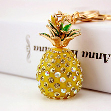 Bag-Accessories Jewelry Pendant Key-Chain Crystal Alloy Metal Resin Women's Pineapple