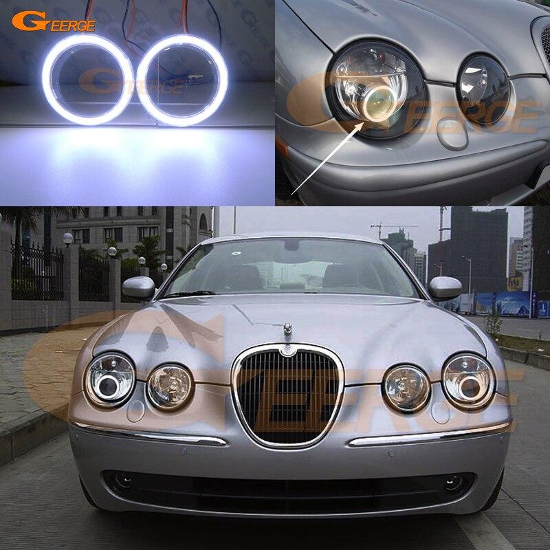 Excellent Ultra Bright COB Led Angel Eyes Kit Halo Rings For Jaguar S Type S-type 2003 2004 2005 2006 2007 2008 Xenon HEADLIGHT
