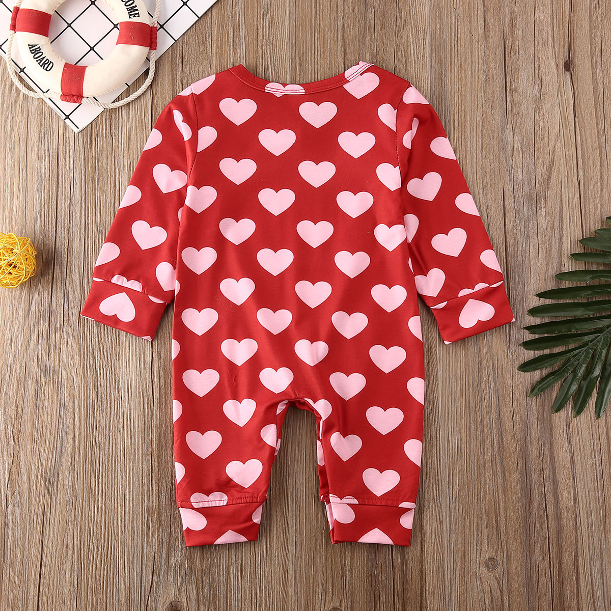 Valentine/'s Day Newborn Baby Girls Clothes Love Print Romper Jumpsuit Outfits