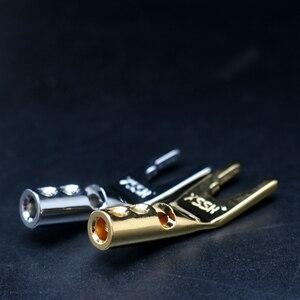 Image 4 - XSSH Conector de amplificador de potencia del altavoz, soldadura de rodio, chapado en cobre, enchufe de banana macho, 4 Uds./8 Uds.