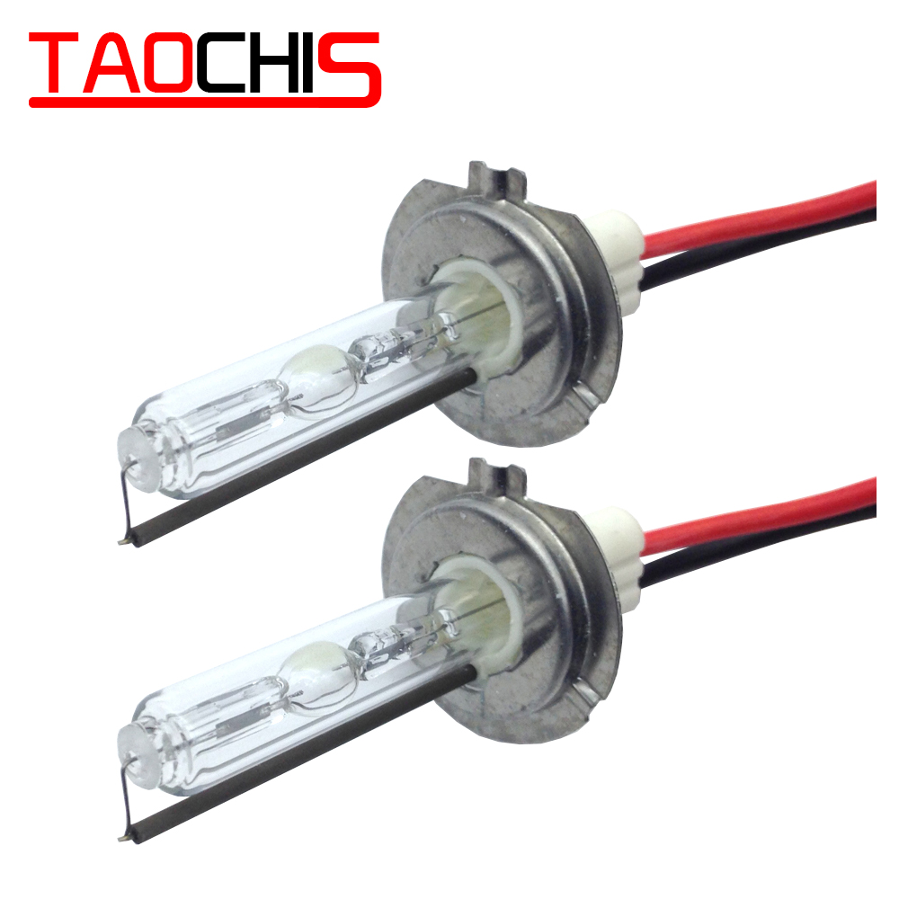 Taochis 12V 100W HID Xenon Lamps H1 H3 H7 H8 H9 H11 9005 9006 880 881 Car Head Light Replacement Bulbs Fast Start 6000k