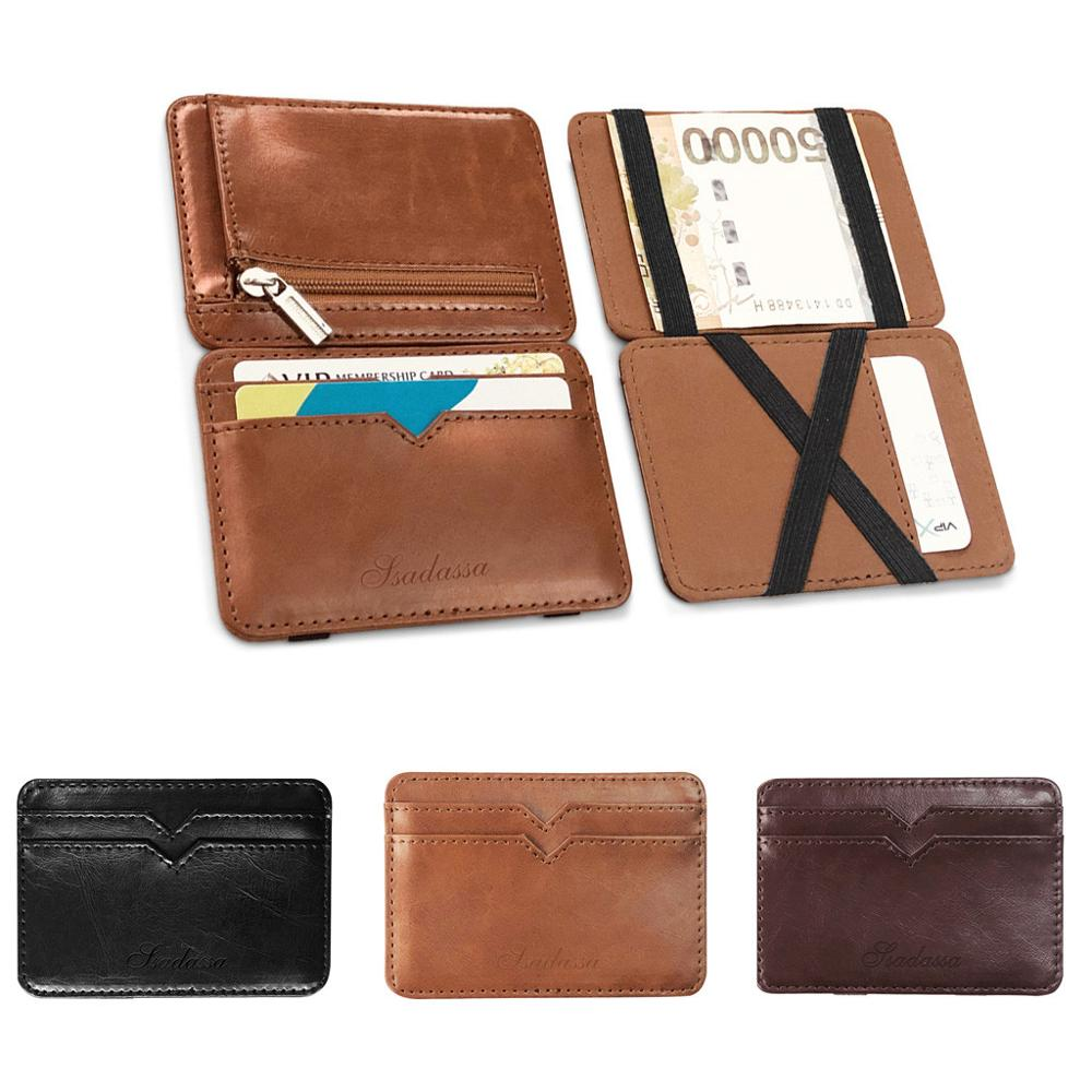 Men Leather Wallet Credit Card Holder Money Clip Coin Purse Card Holder Good Quality Fashion Business Bank Card Package Wallet*