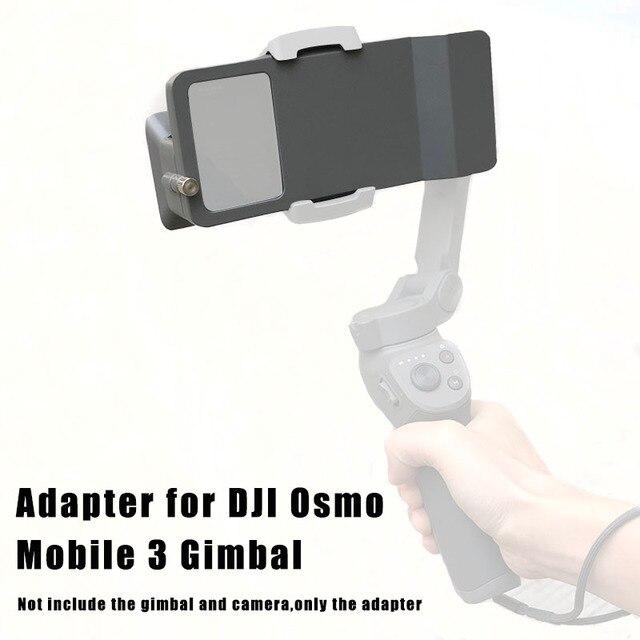 כף יד Gimbal מתאם מתג הר לdji אוסמו נייד 3/4 כדי GoPro גיבור 7 6 5 שחור פעולה מצלמה מתג צלחת מתאם Vlog