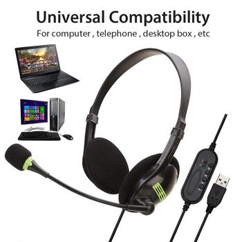 kebidu 3.5mm Noise Cancelling Wired Headphones Microphone Universal USB Headset With Microphone For PC /Laptop/Computer 2