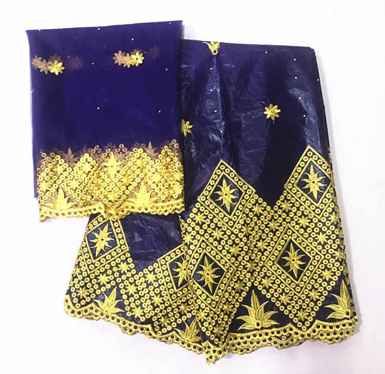 新到着石アフリカバザンリッシュ Getzner 生地刺繍レース Tissu バザンリッシュドレス素材ナイジェリア Gele Headtie