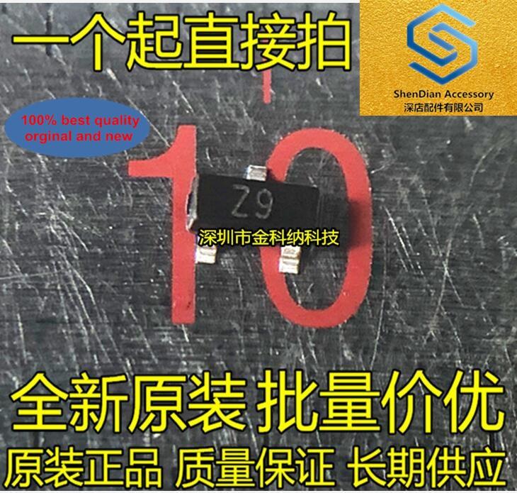 100pcs 100% Orginal New BZX84-C10 Silkscreen Z9 Code Z9W Zener Diode 10V SOT-23 SMD Triode Real Photo