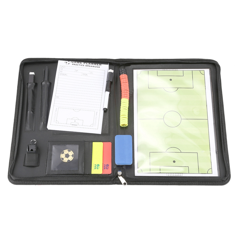 Zipper 4 In 1 Soccer Board Magnetic Basketball Handball Volleyball Board Coaching Game Tactic Strategy Clipboard