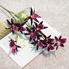 Luxus Orchideen Lange Zweig Künstliche Blume Schmetterling Orchidee Für Neue Jahr Zu Hause Hochzeit Herbst Dekoration Flores Gefälschte anlage JH143