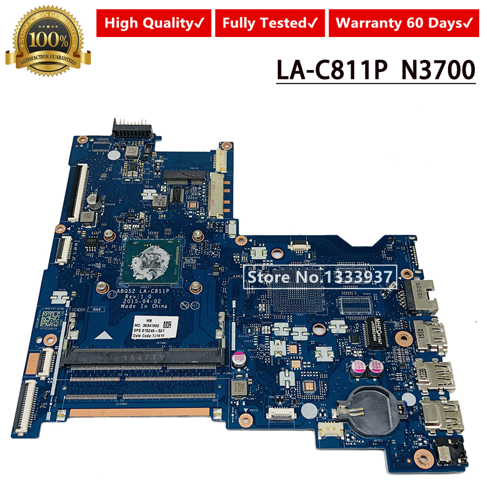 REFIT 815249-501 815249-001 Laptop Motherboard for 15-AC N3150 CPU ABQ52 LA-C811P Mainboard Works