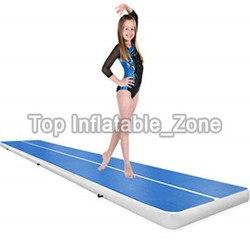 Grote Korting Blauwe Kleur Opblaasbare Gym Mat DWF 3M Air Track Matten Met Gratis Elektronische Pomp Hot Koop Training mat/Airtrack Goedkope