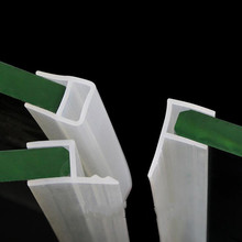 Tira deslizante de silicona para mampara de ducha, 1M, en forma de U, sellos de puerta de vidrio de goma, burlete de ventana para vidrio de 6/8/10/12mm