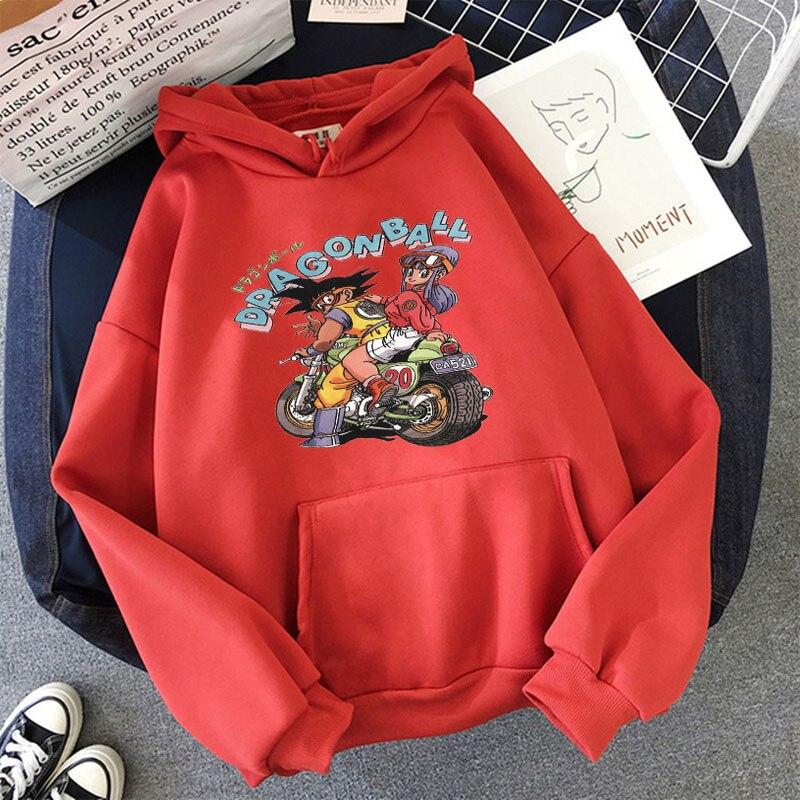 Japanese Anime Printed Hoodies 2021 Spring Autumn Long Sleeve Hoodie Women Cartoon Graphic Streetwear Sweatshirts Female Tops 5