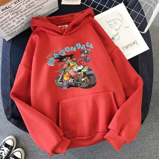 Japanese Anime Printed Hoodies 2021 Spring Autumn Long Sleeve Hoodie Women Cartoon Graphic Streetwear Sweatshirts Female Tops 6