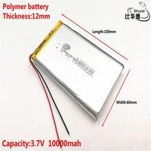Bom qulity 3.7 v, 10000 mah, 1260100 bateria de íon de lítio de polímero/li ion para o brinquedo, banco de potência, gps,