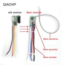 Qiachip universal sem fio 433 mhz dc 3.6 v 24 v interruptor de controle remoto 433 mhz 1 ch rf relé receptor led luz controlador kit diy