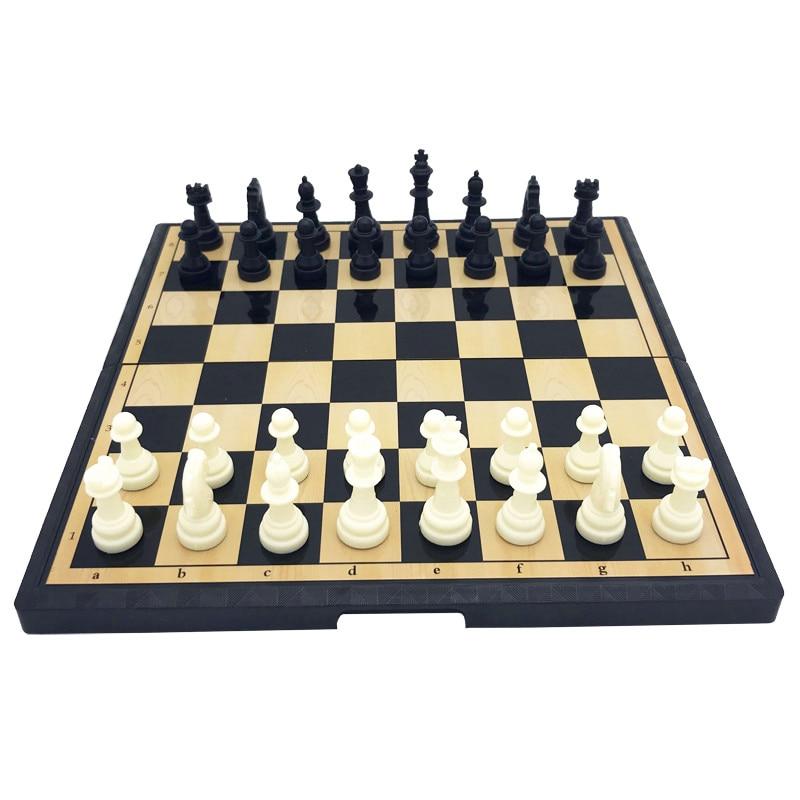 Mini jeu d'échecs en plastique magnétique euraméricain, jeu d'échecs de haute qualité, magnétique, Portable, divertissement, jeu de société pour les amis des enfants