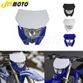 Motocross Scheinwerfer Weiß H4 12V 35W Dual Sport Kit Für Yamaha WRF250/400/426/450 YZ TTR WR XT MX Enduro Dirt Bike Kopf Licht auf