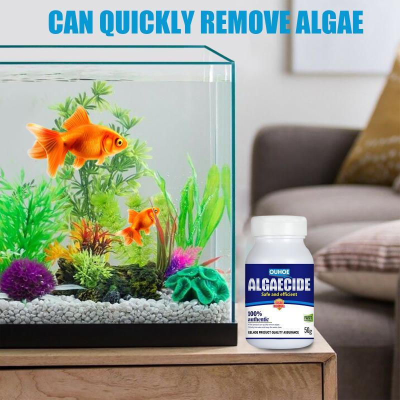 50g Bottled Algaecide Water Purification Safe Algae Repellent Agent High Efficiency Control Algae Moss Aquarium Pond Supplies