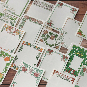 30PCS/Set Vintage Flower Retro Notepads Memo Pad TO DO LIST Japanese Paper Message Sheets Note Pads POST IT Cards Page Flags