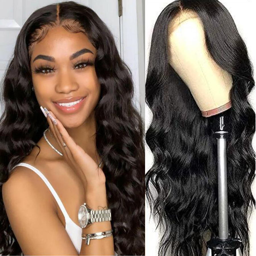 Beaushine Hair 4x4 Body Wave Lace Closure Wig Brazilian Closure Wig Human Hair Wigs 250% Full Density Pre-Plucked Frontal Wigs