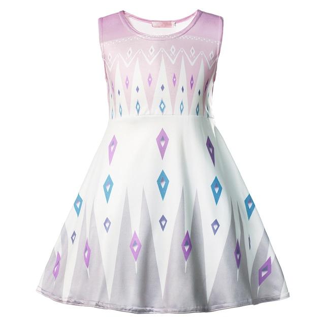VOGUEON Baby Girl Elsa Dress Fancy Anna Halloween Birthday Party Cosplay Costumes Kids Jasmine Mermaid Dresses Girls Clothing 4