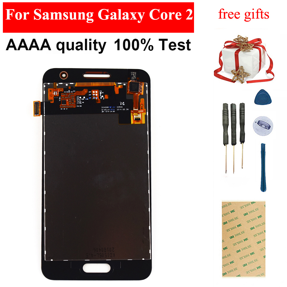 For Samsung Galaxy Core 2 G355 <font><b>G355H</b></font> G355M Black / White Touch Screen Digitizer Panel Glass + LCD <font><b>Display</b></font> Monitor Assembly image