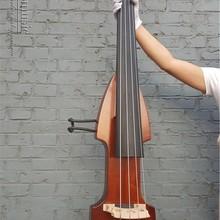 3/4 4 струнный Электрический Вертикальный двойной бас отделка бесшумный мощный звук 001202