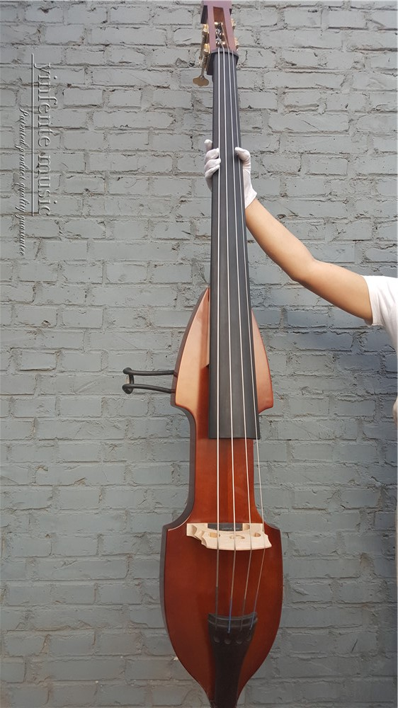 3/4 New 4  String   Electric Upright Double Bass Finish Silent Powerful Sound  001202#