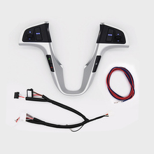 New For Hyundai VERNA SOLARIS Steering Wheel Button Audio Volume Buletooth Phone Control Switch With Backlight Car Accessroies