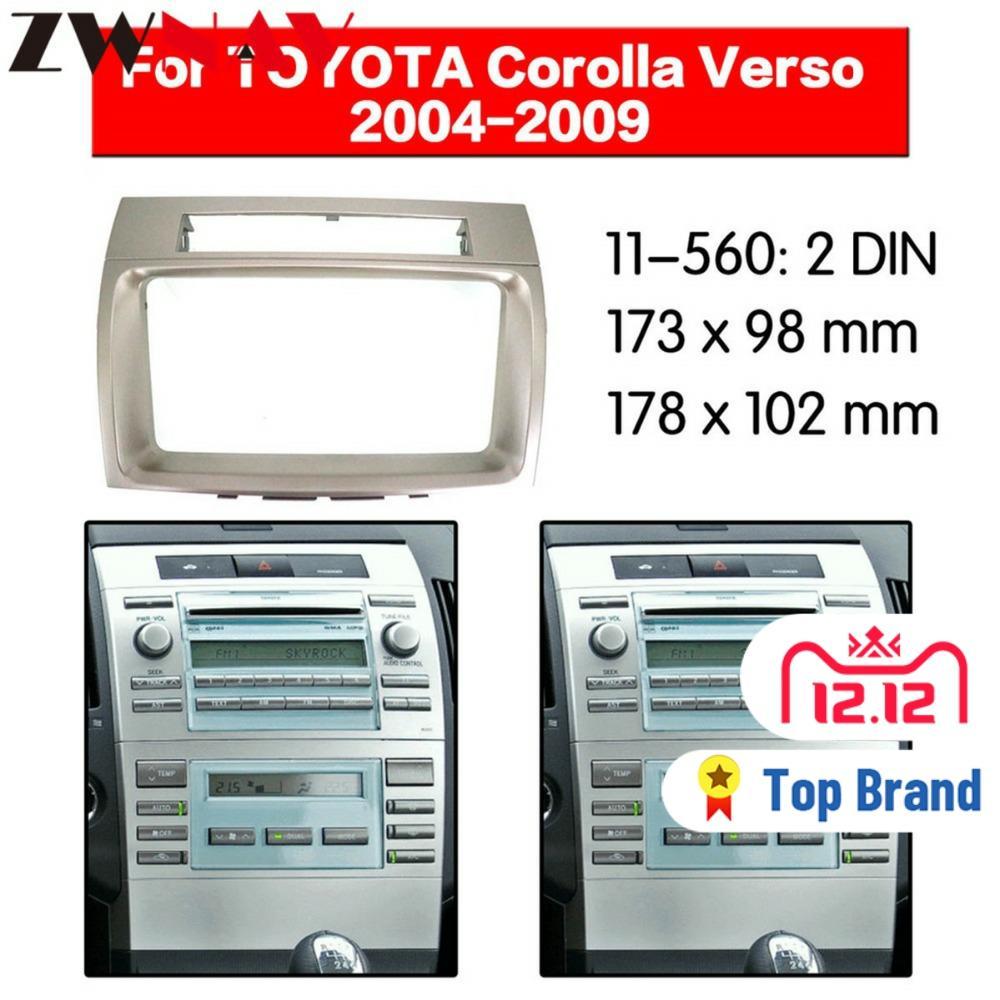 Car DVD Player frame For TOYOTA VERSO 2004 2005 2006 2007 2008 2009 Auto Radio Multimedia NAVI fascia Fascias  - AliExpress