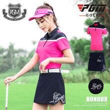 Pgm одежда для гольфа, летняя женская плиссированная теннисная мини-юбка, футболка, спортивная одежда для похудения, одежда для гольфа, XS-XL