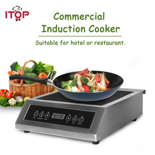 ITOP High Power Induction Cooker Glass-ceramic Touch Control Energy-Saving Cooking Commercial Cooker Machine 3500W 220V-240V цена и фото