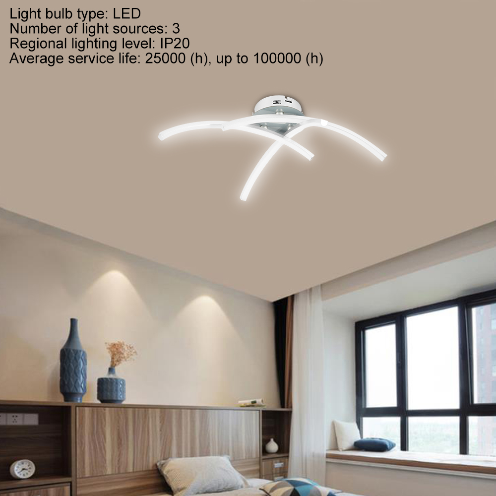 Hb169c0a7e7f94d48a7ef9f524b2ec22eP Strange LED Ceiling Lights Fork Embedded 21W 3000K White/Warm White Home Lighting Living Room Bedroom Decor Lamp