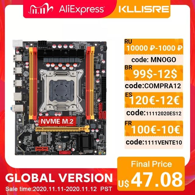 חדש Kllisre X79 שבב האם SATA3 PCI E NVME M.2 SSD תמיכה REG ECC זיכרון