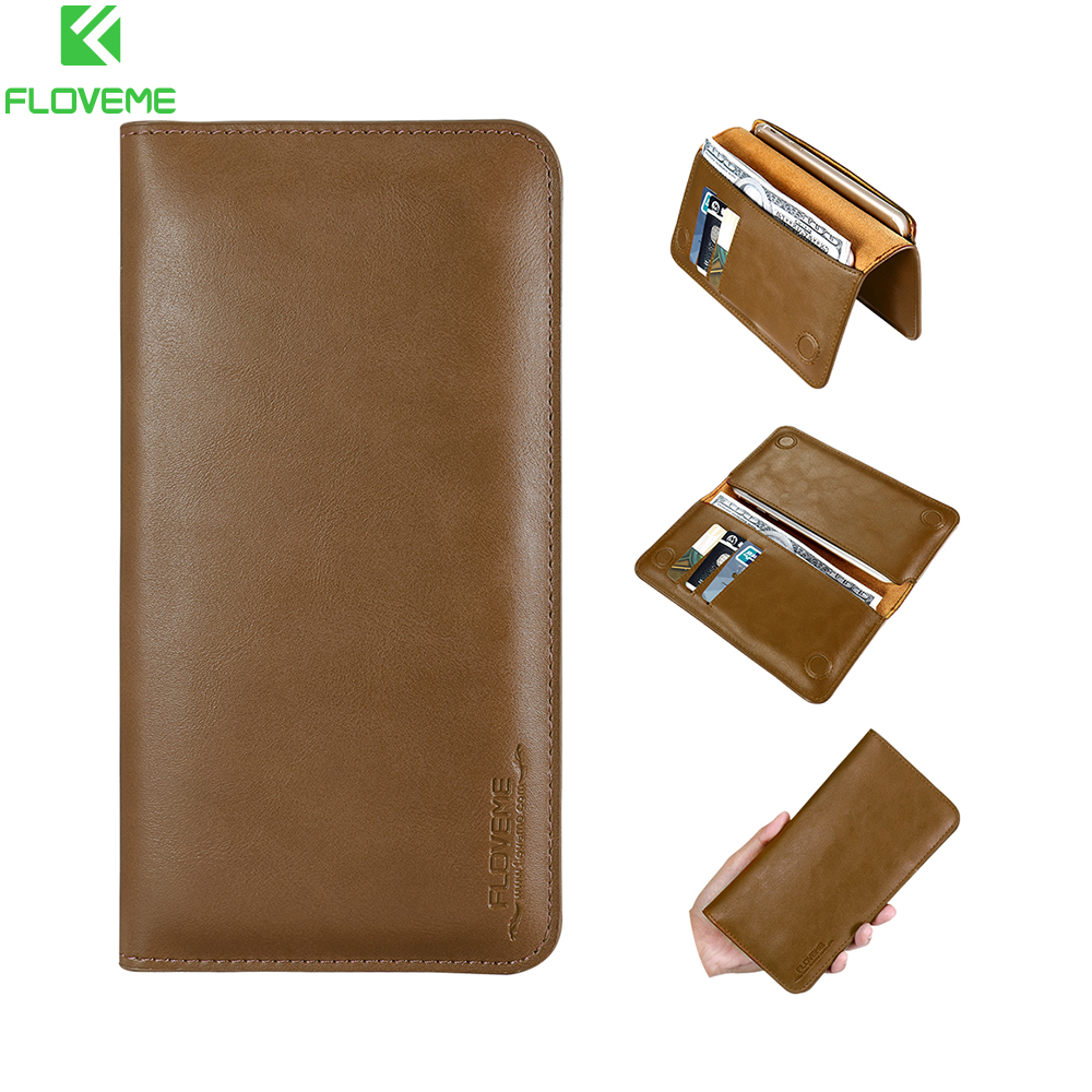 FLOVEME 5.5'' Retro Luxury Wallet <font><b>Genuine</b></font> <font><b>Leather</b></font> <font><b>Case</b></font> For <font><b>iPhone</b></font> X 8 7 6 6s <font><b>5s</b></font> <font><b>Case</b></font> For Xiao Redmi Note 4X 5a Mi5 6 Wallet Bags image