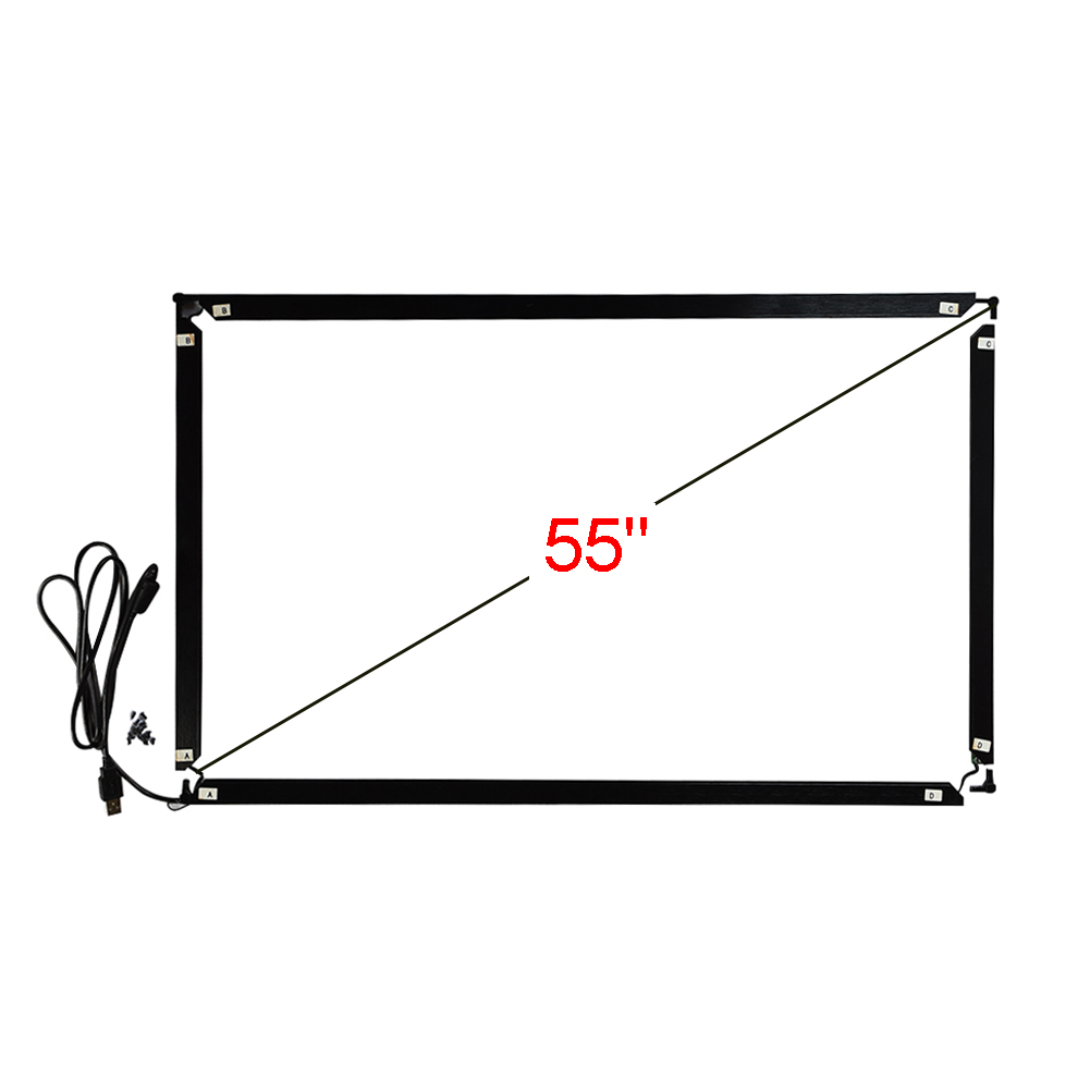 55 polegada 16:9 infravermelho multi touch frame 1252*723mm 10 pontos toque interface usb